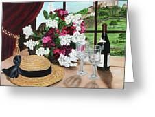 C'est Le Temp Pour Le Vin Greeting Card