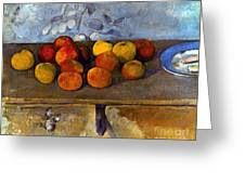 Cezanne: Apples & Biscuits Greeting Card