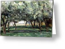 Cezanne: Le Clos Normand Greeting Card
