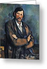 Cezanne: Man, C1899 Greeting Card