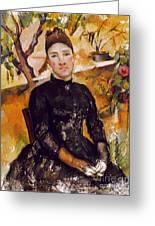 Cezanne: Mme Cezanne, 1890 Greeting Card