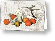 Cezanne Oranges Digital Art Greeting Card