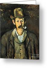 Cezanne: Pipe Smoker, C1892 Greeting Card