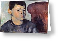 Cezanne: Portrait Of Son Greeting Card