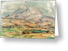 Cezanne: St. Victoire, 1897 Greeting Card