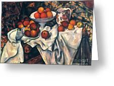 Cezanne: Still Life, C1899 Greeting Card