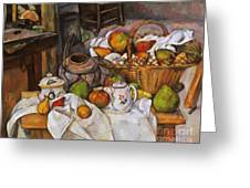 Cezanne: Table, 1888-90 Greeting Card