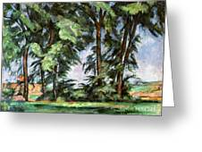 Cezanne: Trees, C1885-87 Greeting Card