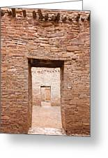 Chaco Canyon Doorways 1 Greeting Card