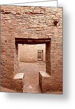 Chaco Canyon Doorways 2 Greeting Card