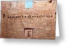 Chaco Canyon Doorways 4 Greeting Card
