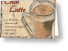 Chai Latte Greeting Card