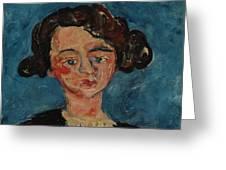 Chaim Soutine 1893 - 1943 Portrait De Jeune Fille Paulette Jourdain Greeting Card