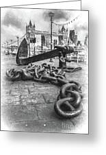 Chain And Anchor, Southwark Greeting Card