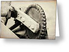 Chain And Gear Greeting Card