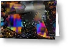 Chain And Sprockets - Amcg -  Macro 13 30 X 20 Greeting Card