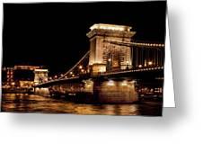Chain Bridge - Budapest Greeting Card