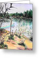Chain Lakes Duck Mountain Mb Greeting Card by Janice Robertson
