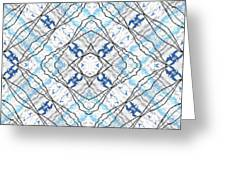 Chain Of Clouds Pattern Greeting Card