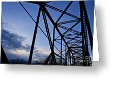 Chain Of Rocks Bridge Greeting Card