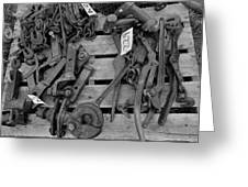 Chain Pallet Bw Greeting Card
