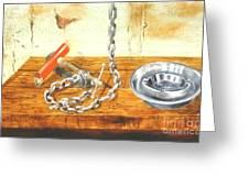Chain Smoking Greeting Card