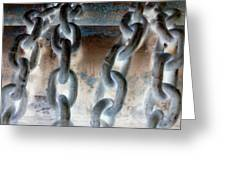 Chains - Nagative Greeting Card