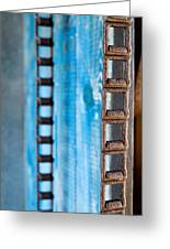 Chains And Blue Wood Greeting Card
