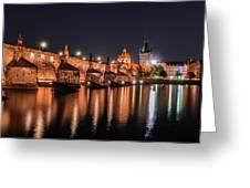 Chains Bridge In Prague Greeting Card