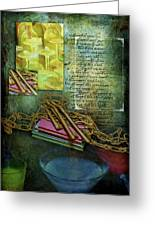 Chains, Poetry And Spirits Greeting Card
