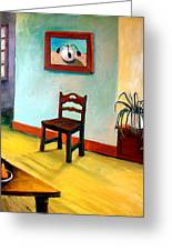 Chair And Pears Interior Greeting Card