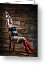 Chair Bondage - Fine Art Of Bondage Greeting Card