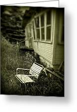 Chair In Grass Greeting Card