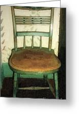 Chair In Isolated Corner Greeting Card