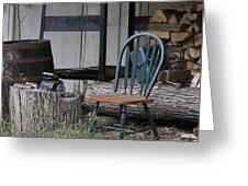 Chair In The Shed Greeting Card