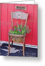 Chair Planter Greeting Card