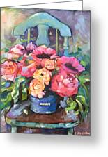 Chair With Flowers Greeting Card