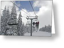 Chairlift At Vail Resort - Colorado Greeting Card