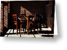 Chairs And Shadows Greeting Card