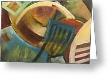 Chairs Around The Table Greeting Card