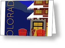 Colorado Chairs Greeting Card by Sam Brennan