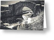 Chairs - Stone Bridge Greeting Card