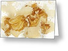 Chaise Greeting Card by Brian Kesinger