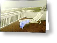 Chaise Lounge Greeting Card