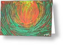 Chakra Protea Greeting Card