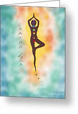 Chakra Yoga Art By Valentina Miletic Greeting Card