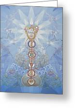Chakras And Elements Greeting Card