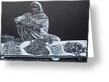 Chalk Seller Greeting Card by Ekta Gupta