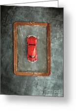 Chalkboard Toy Car Greeting Card