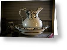 Chamber Pitcher With Basin 3 Greeting Card